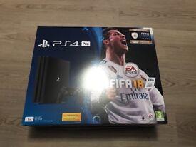 PS4 pro FIFA 18 1tb jet black