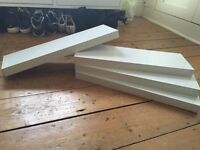 4 x White Floating Shelves (for sale) £10 (for all 4)