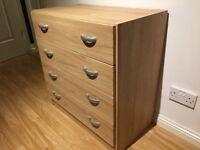Basic Chest of 4 Drawers - Oak Veneer