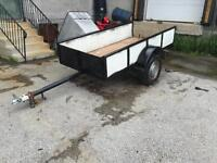 4'x8' utility trailer with LED lights.