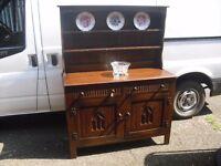 Wonderful Oak Quality Webber Of Croydon Plate Rack Sideboard Dresser Vintage