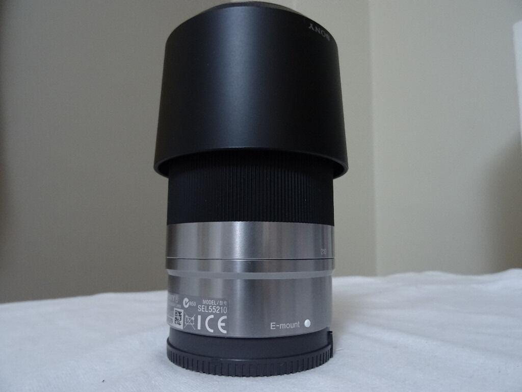 SONY SEL55210 F4.5-6.3 OSS LENS SILVER - 55-210 mm 1:4.5-6.3 - Zoom Lens