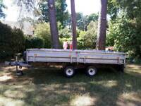 Trailer 12ftx7ft twin axle, braked, with winch and independent suspension