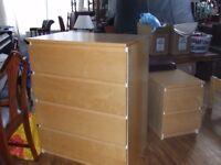 CHEST OF DRAWS SET (IKEA MALBET RANGE) EXCELLENT CONDTION FREE EDINBURGH DELIVERY