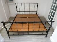 FISHPOOLS BLACK KING SIZE METAL BED FRAME