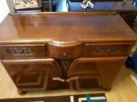 1941 - 1952 Vintage Antique Oak Dovetailed Sideboard CC41 Utility Furniture WW2