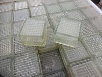 GLAS BRICKS IDEAL DECORATIVE FEATURE , £2.50 EACH ,CHADDESDEN DERBY