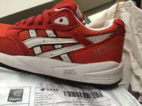 Asics Gel Saga Red Trainers - Size 5