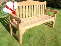 £435.00 New 5ft A Grade Teak Heavy Duty Memorial Garden Bench This bench comes fully assembled