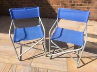 Camping Director Chairs x 2