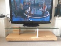 Quality wood chrome and glass tv and entertainment stand/table