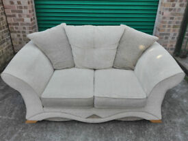 2 seater sofa settee in perfect condition protected upholstery / free delivery
