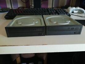 2 x Sony Optiarc DvD RW Drives