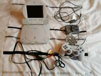 Sony psone and official sony psone screen with games