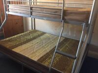 double/single bunk bed in very good condition, mattresses include. Definately worth looking!