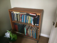 Glass fronted bookshelves