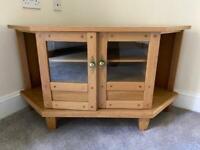 Andrena Solid Oak Corner TV Cabinet