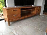 Walnut Veneer TV/Satellite/DVD Cabinet