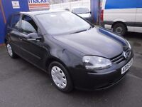 2005 VW GOLF 1.6 FSI, 5DOOR, BLACK, VERY CLEAN CAR, DRIVES LIKE NEW, FULL SERVICE HISTORY, HPI CLERA