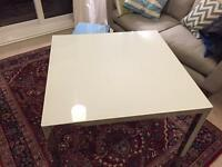 Ikea White Glass Chrome Table