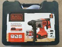 New unused Black+Decker Cordless Hammer Drill 18V w 2 2.5Ah batteries