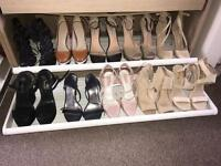 10 pairs of woman high heels - size 6