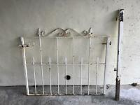 Steel gate with posts
