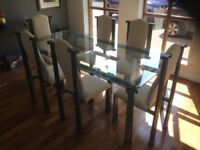 Alfranke Dining Table & 6 Chairs - £900 (rrp £4500). Also, console table and side table