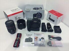 Canon 5D Mark III + Battery Grip + Canon 24-70mm 2.0 L USM