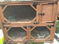 Custom rabbit hutch two tier + accessories