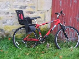 Mountain bike with child carrier