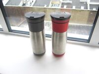 *~*~*~* 2 x Thermos in excellent condition, camping, food, drinks storage *~*~*~*