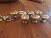 Silver doorknobs 30mm x 8