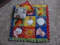 Activity Soft Cloth Play Mat and Book
