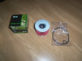 hiflo oil filter boxed with new seals HF401 will fit most bikes
