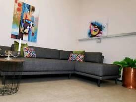 Habitat compact p8nched seats corner sofa was £1800