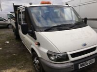 FORD TRANSIT CREW CAB TIPPER TRUCK NICE DRIVING TRUCK IN GOOD CONDITION MOT ANY TRIAL WELCOME