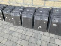 Concrete modern interlocking roof tiles approx 30cmx40cm