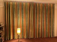 Interlined, pinch pleated curtains, high quality - good condition - for collection only