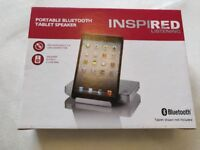 Bluetooth speaker tablet dock in box rrp £35