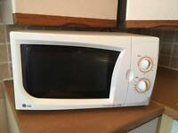 White LG microwave