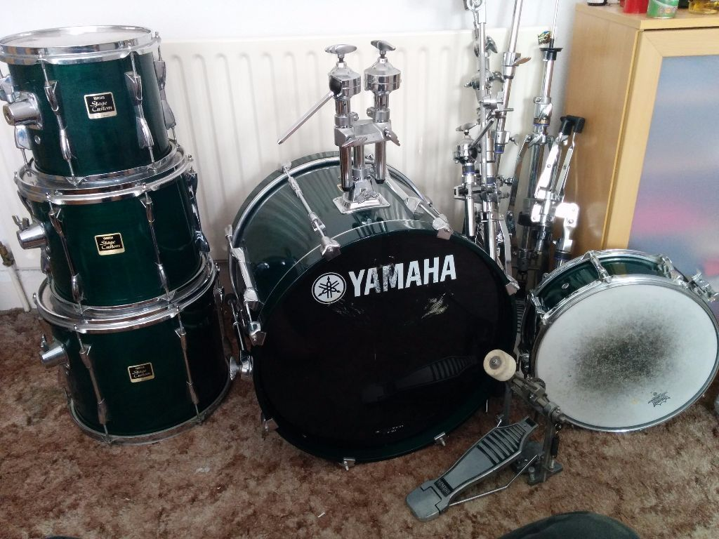 yamaha stage custom drum kit in kirkstall west. Black Bedroom Furniture Sets. Home Design Ideas