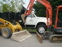 Mini excavator, Skid Steer, 15 Ton Float & Dump truck Service