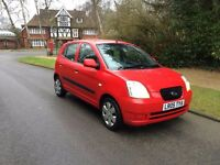 2005 (05) KIA PICANTO 1.1 5DR HATCHBACK,1 OWNER,MOT,ECONOMICAL,PAS,EXCELLENT,BARGAIN,yaris,micra,fox