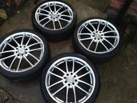 17 bsa alloys wheels 4x100 4x108 ford renault vw Citroen Vauxhall rims bbs rota team dynamics tsw