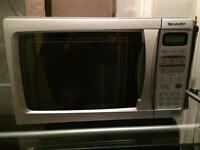 'Sharp' smart Silver Microwave
