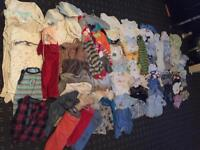 HUGE BUNGLE OF BABY BOYS CLOTHES 0-3-6-9-12 M !!!
