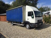 2003-03-reg man LE8.180 7.5ton curtinsider folder way tail lift can deliver
