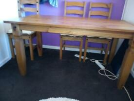 Corona table and 6 chairs