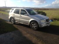 MERCEDES ML 270 DIESEL CDI TOP OF THE RANGE AUTO.. IDEAL EXPORT OR UK USE.